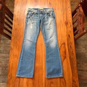 """BKE """"Madison"""" Boot Cut Distressed Jeans 29 x 33"""